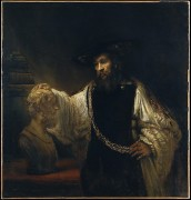 Rembrandt: Aristotle w/ Bust of Homer, MMA