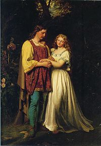 Imogen and Posthumus, by John Faed (1819-1902)