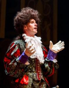 Adam Haas Hunter as Cloten, from StageStruckReview.com