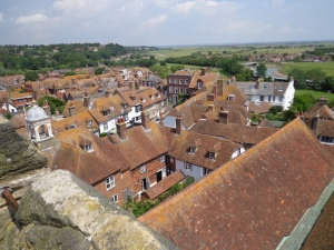 The famous red-tiled roofs of Rye
