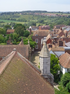 View of Lamb House from church tower