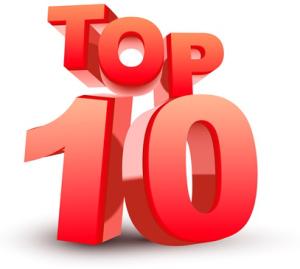Top ten red word