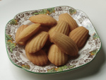 A plate of home-made madeleines