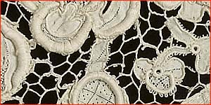 Albertine likes Venetian point lace. Photo courtesy The Lace Guild